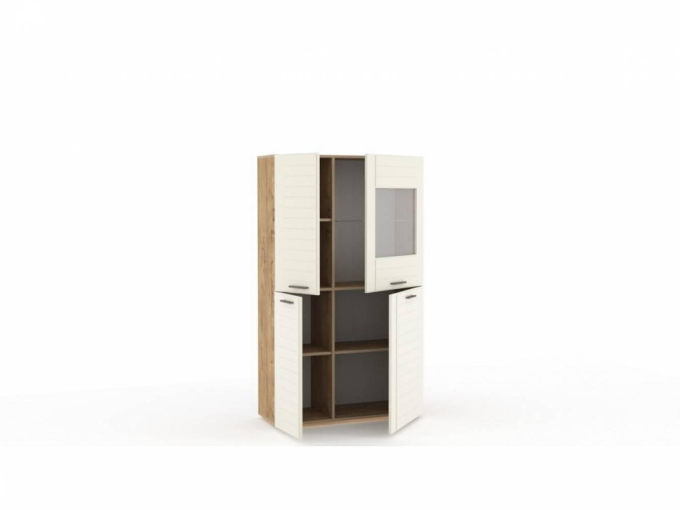 Шкаф комбинированный НМ 011.48-01 LIVORNO (Дуб Бунратти/Софт Панакота)