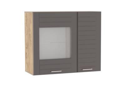 Шкаф навесной НМ 011.29-01 LIVORNO (Дуб Бунратти/Софт Графит)