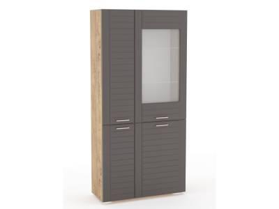 Шкаф комбинированный НМ 011.48 LIVORNO (Дуб Бунратти/Софт Графит)