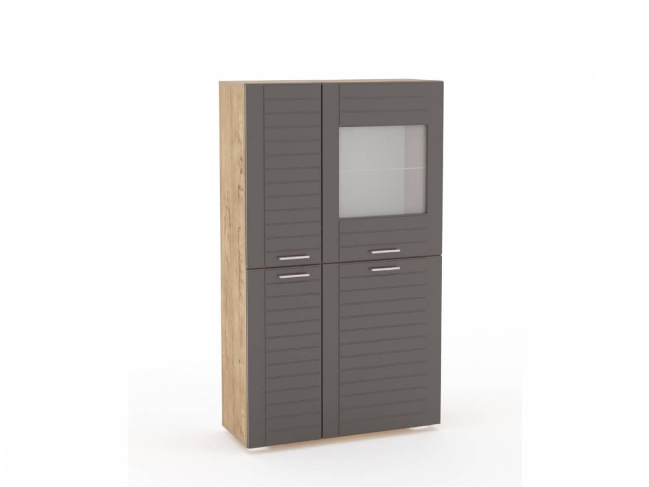 Шкаф комбинированный НМ 011.48-01 LIVORNO (Дуб Бунратти/Софт Графит)