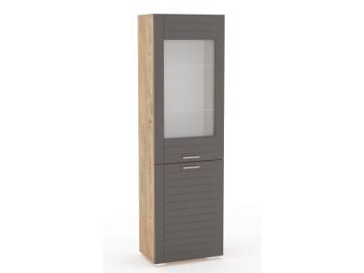 Шкаф комбинированный НМ 011.49 LIVORNO (Дуб Бунратти/Софт Графит)