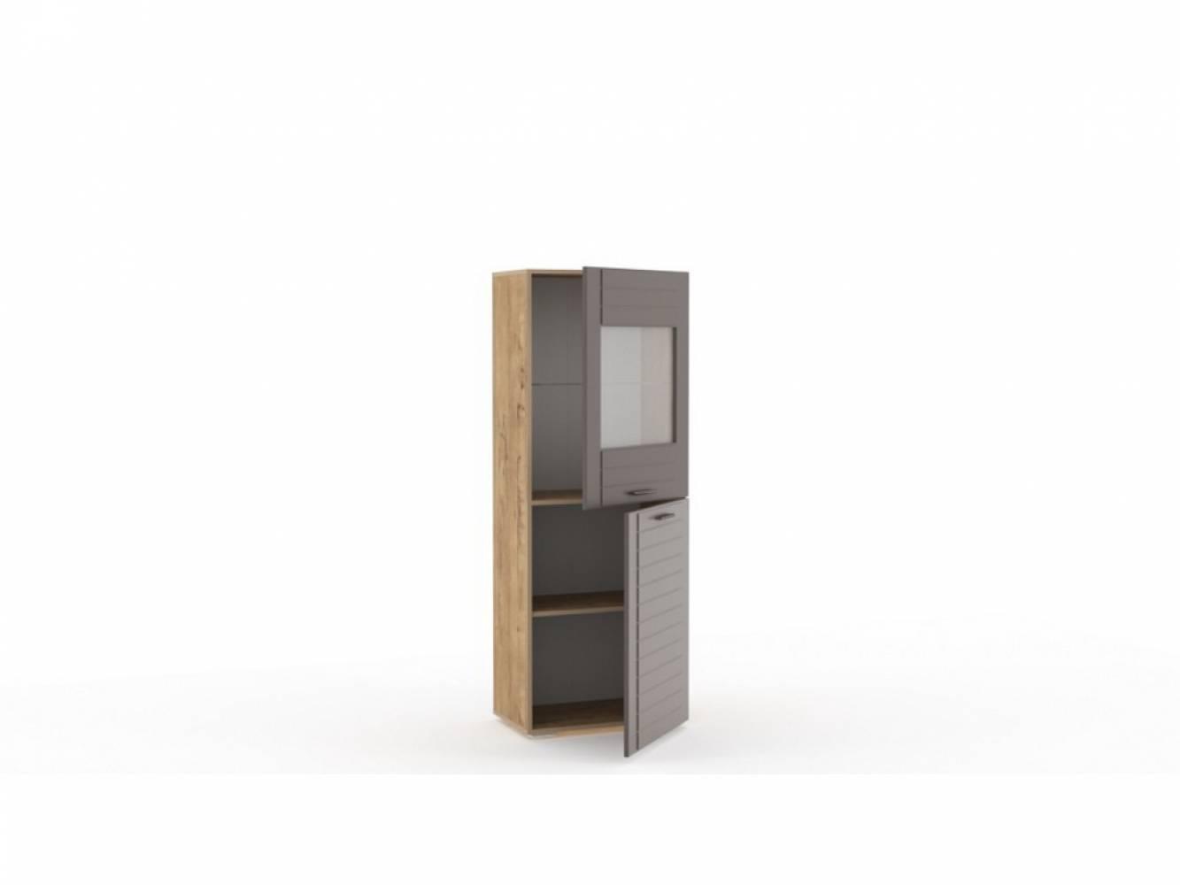 Шкаф комбинированный НМ 011.49-01 LIVORNO (Дуб Бунратти/Софт Графит)