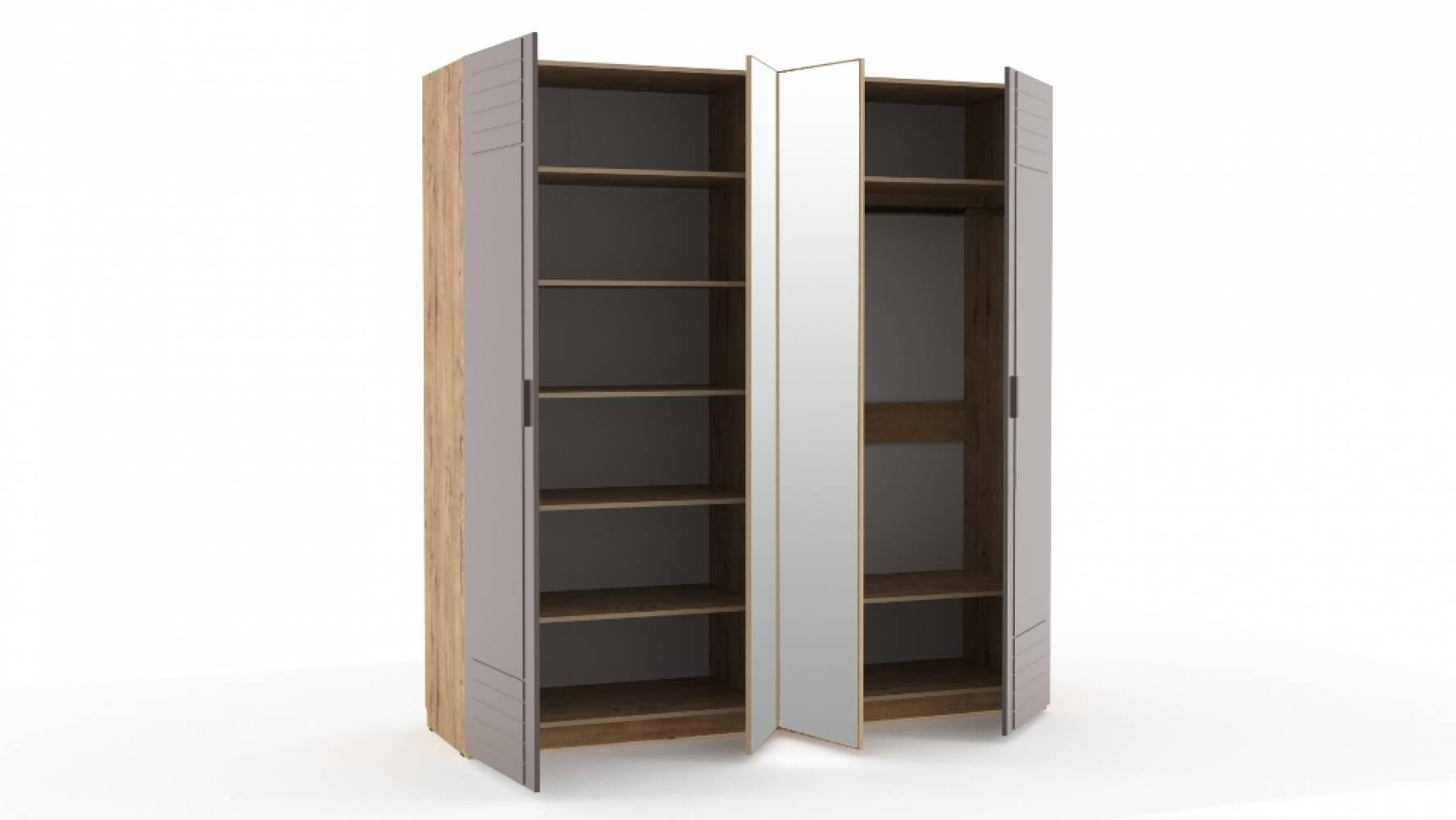 Шкаф комбинированный НМ 013.58 LIVORNO (Дуб Бунратти/Софт Графит)