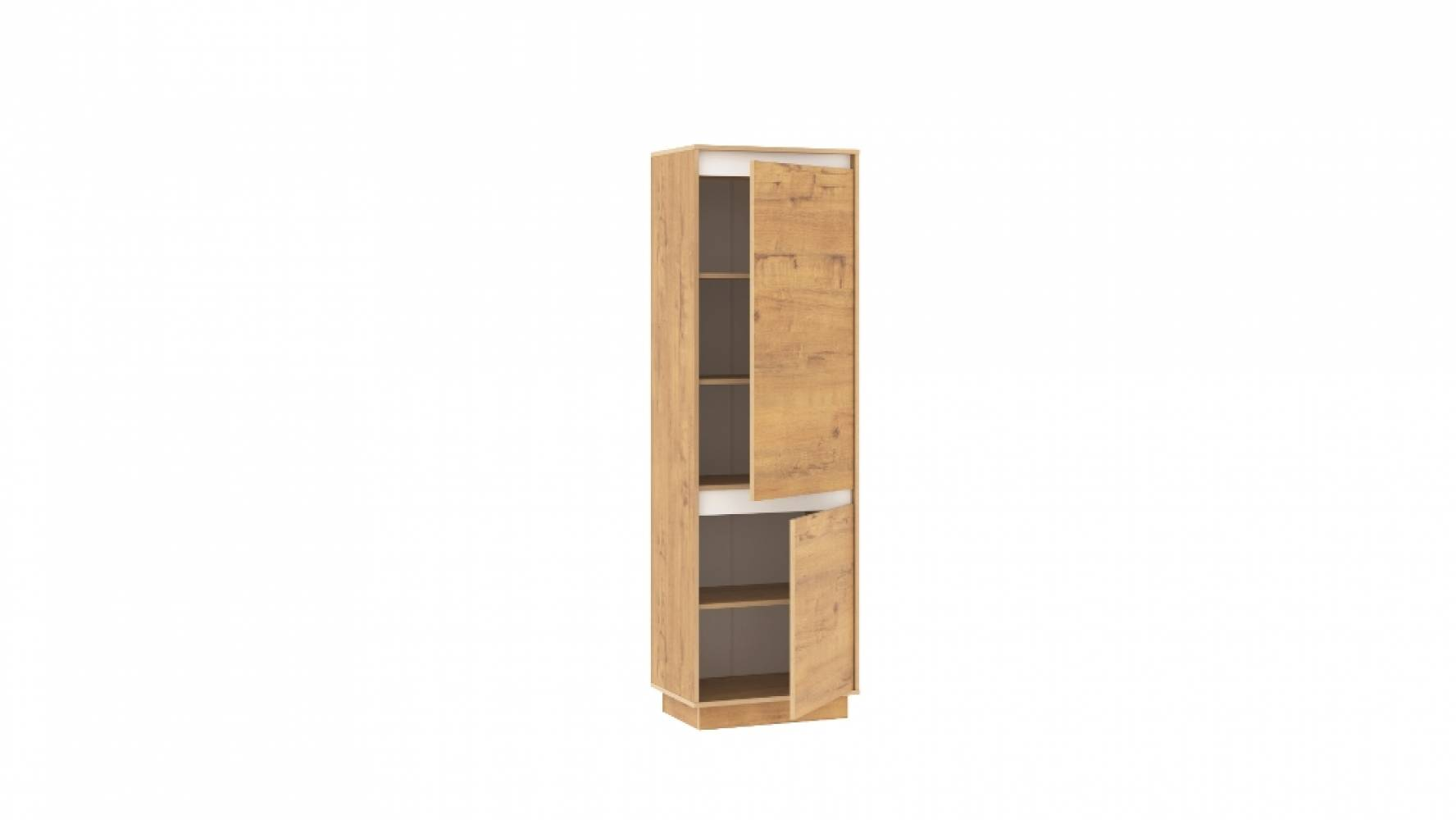 Шкаф для одежды НМ 011.80-01 VIRGINIA (Дуб Бунратти/Белый Скандинавский)