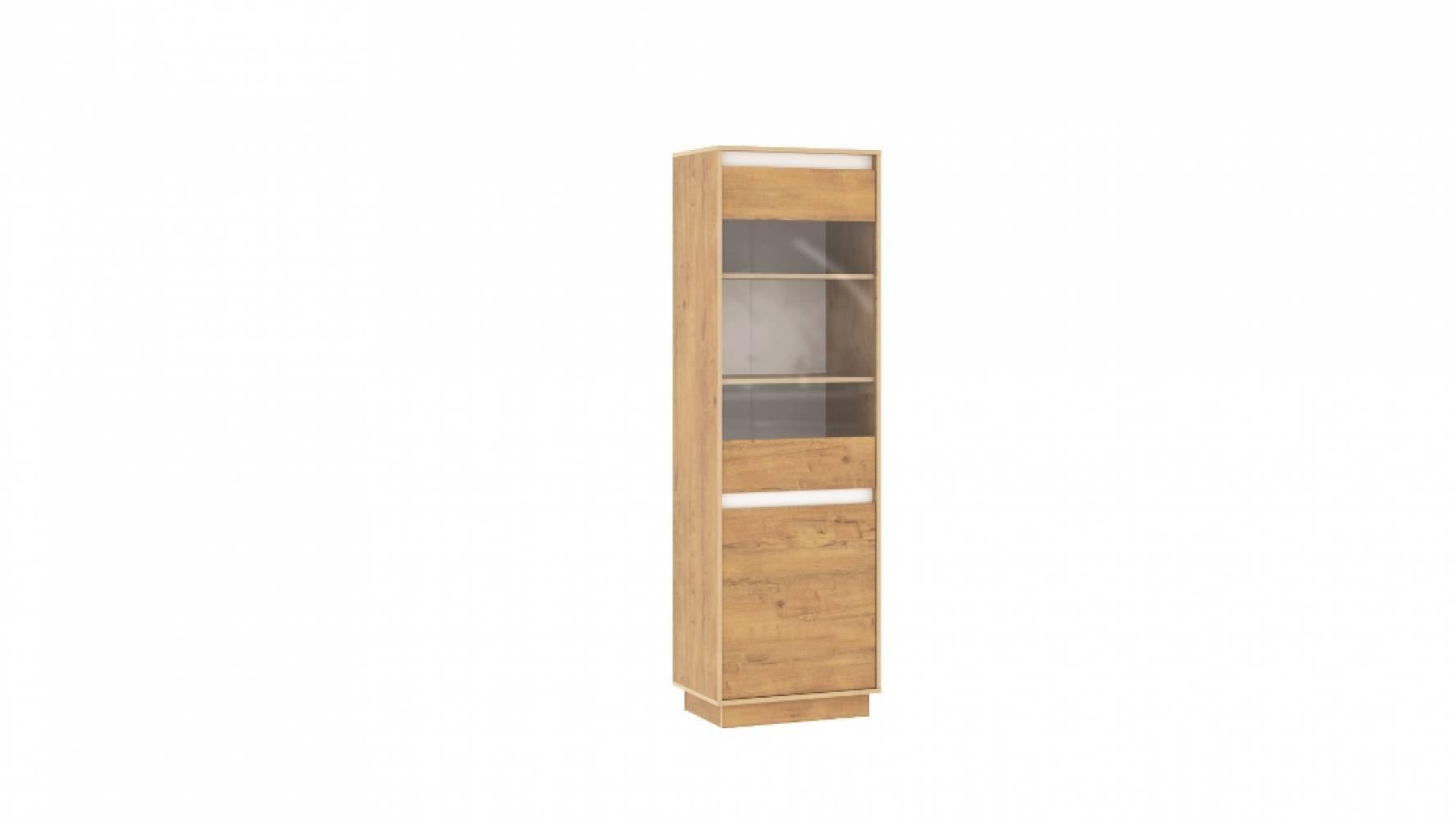 Шкаф для посуды НМ 011.82 VIRGINIA (Дуб Бунратти/Белый Скандинавский)