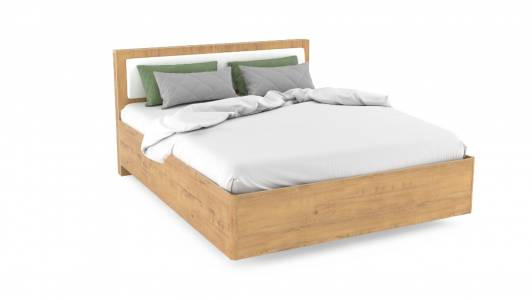 Кровать 1600 НМ 011.54 VIRGINIA (Дуб Бунратти/Белый Скандинавский)