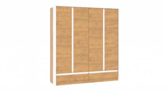 Шкаф комбинированный НМ 011.51 VIRGINIA (Дуб Бунратти/Белый Скандинавский)