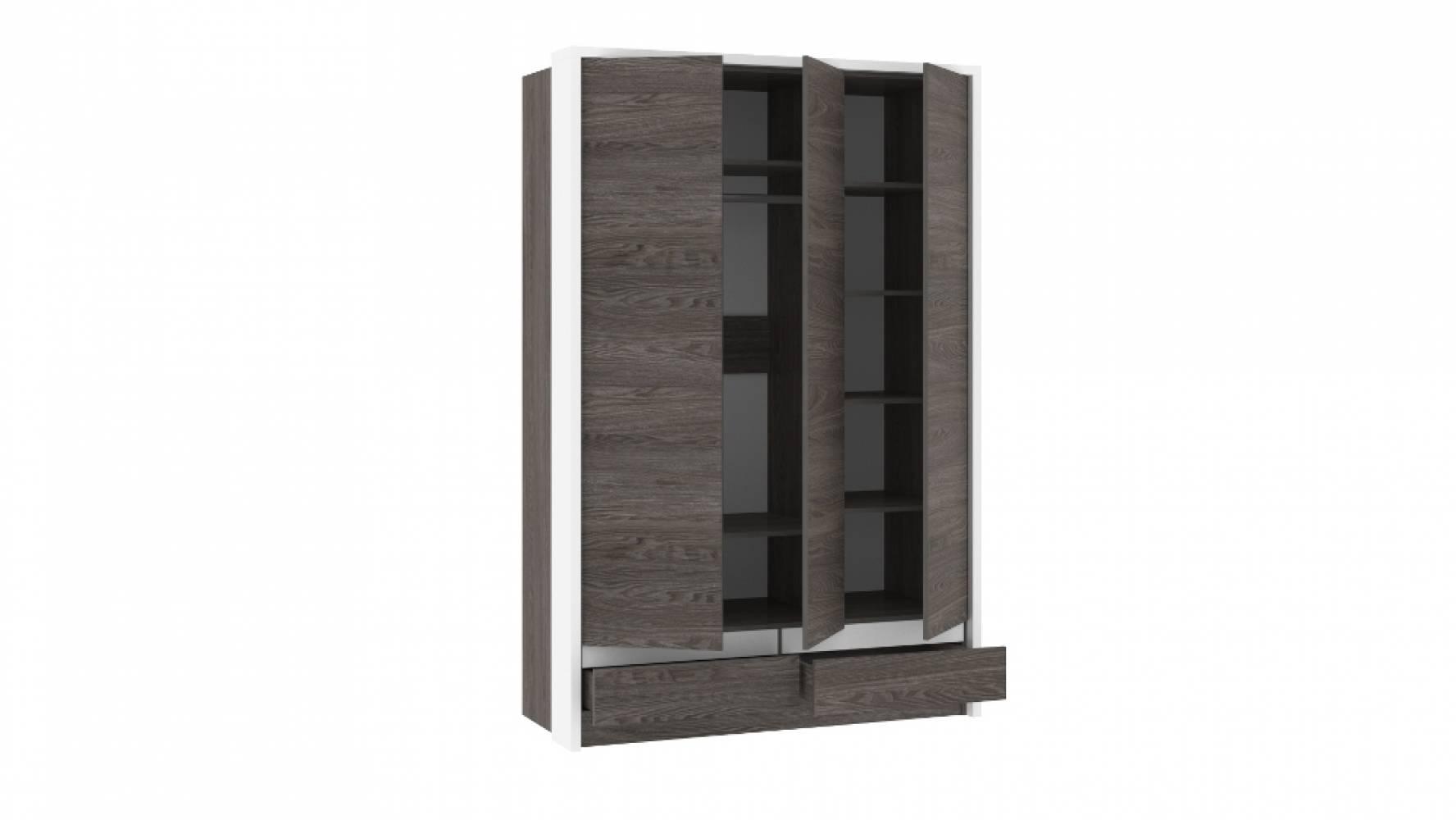 Шкаф комбинированный НМ 011.50 VIRGINIA (Ясень Анкор темный/Белый Скандинавский)