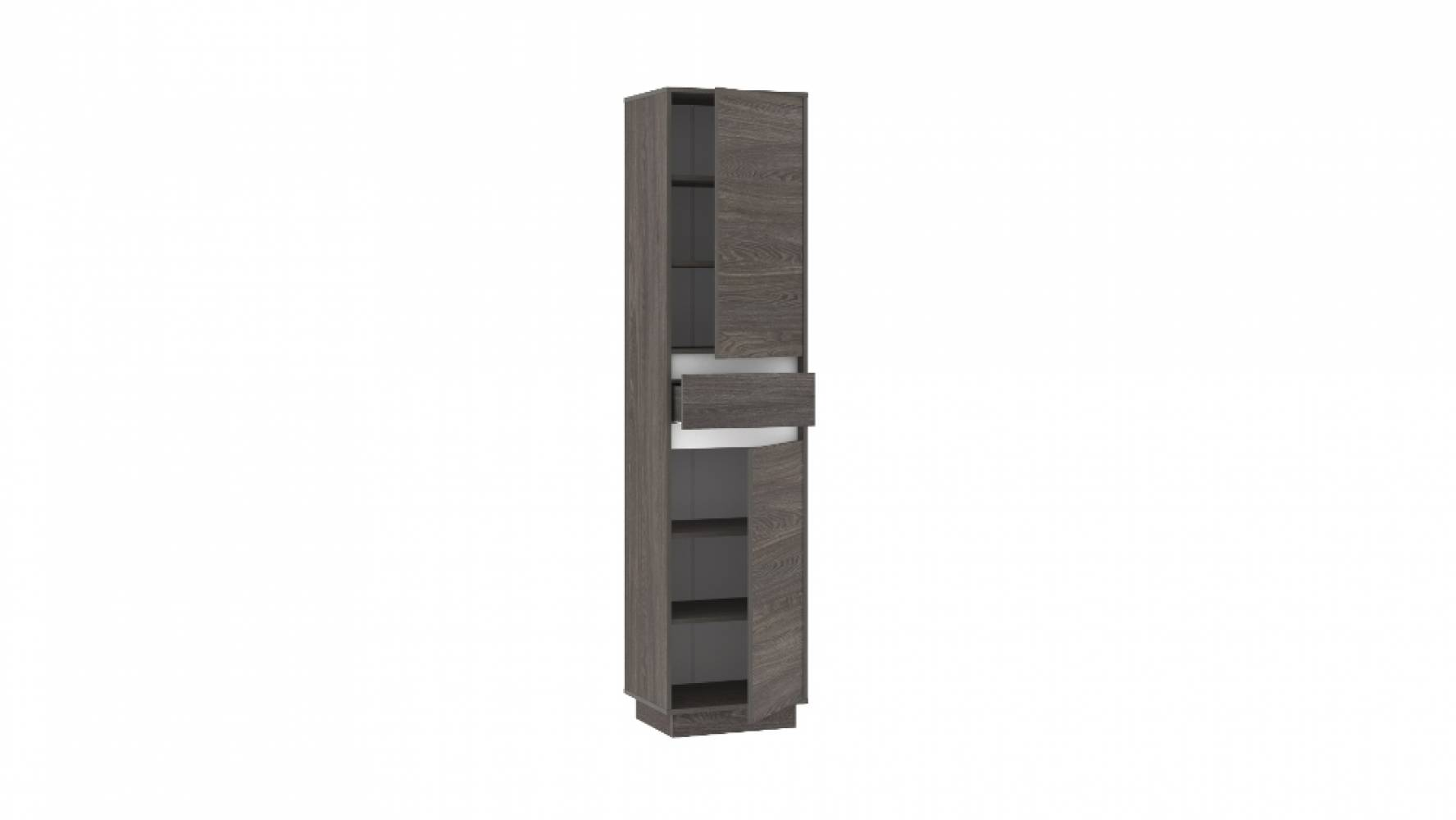 Шкаф для одежды НМ 011.81 VIRGINIA (Ясень Анкор темный/Белый Скандинавский)