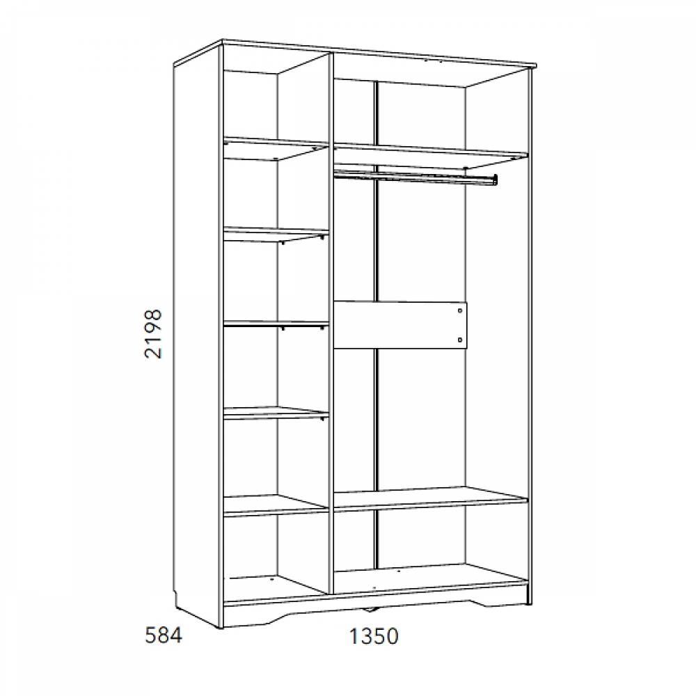 Шкаф НМ 040.33 ОЛИВИЯ (Дуб Сонома)