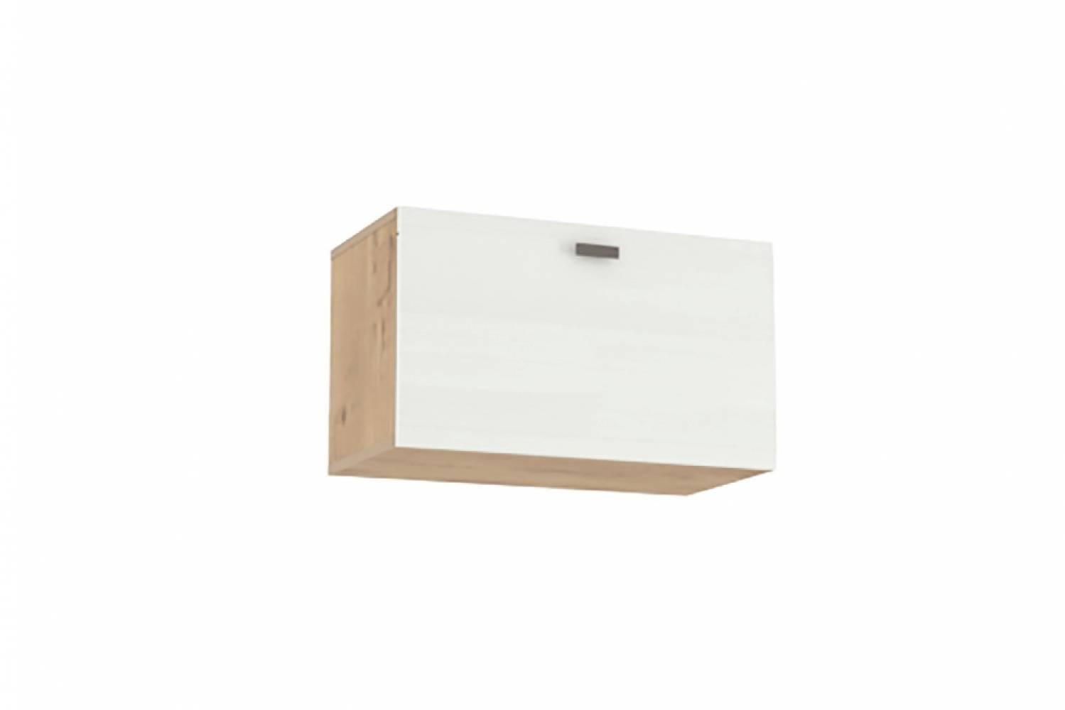 Шкаф навесной (открывание вниз) НМ 014.21-02 SNOW WOOD (Дуб Бунратти/Белое дерево)