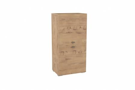 Шкаф комбинированный НМ 011.43 SNOW WOOD (Дуб Бунратти)