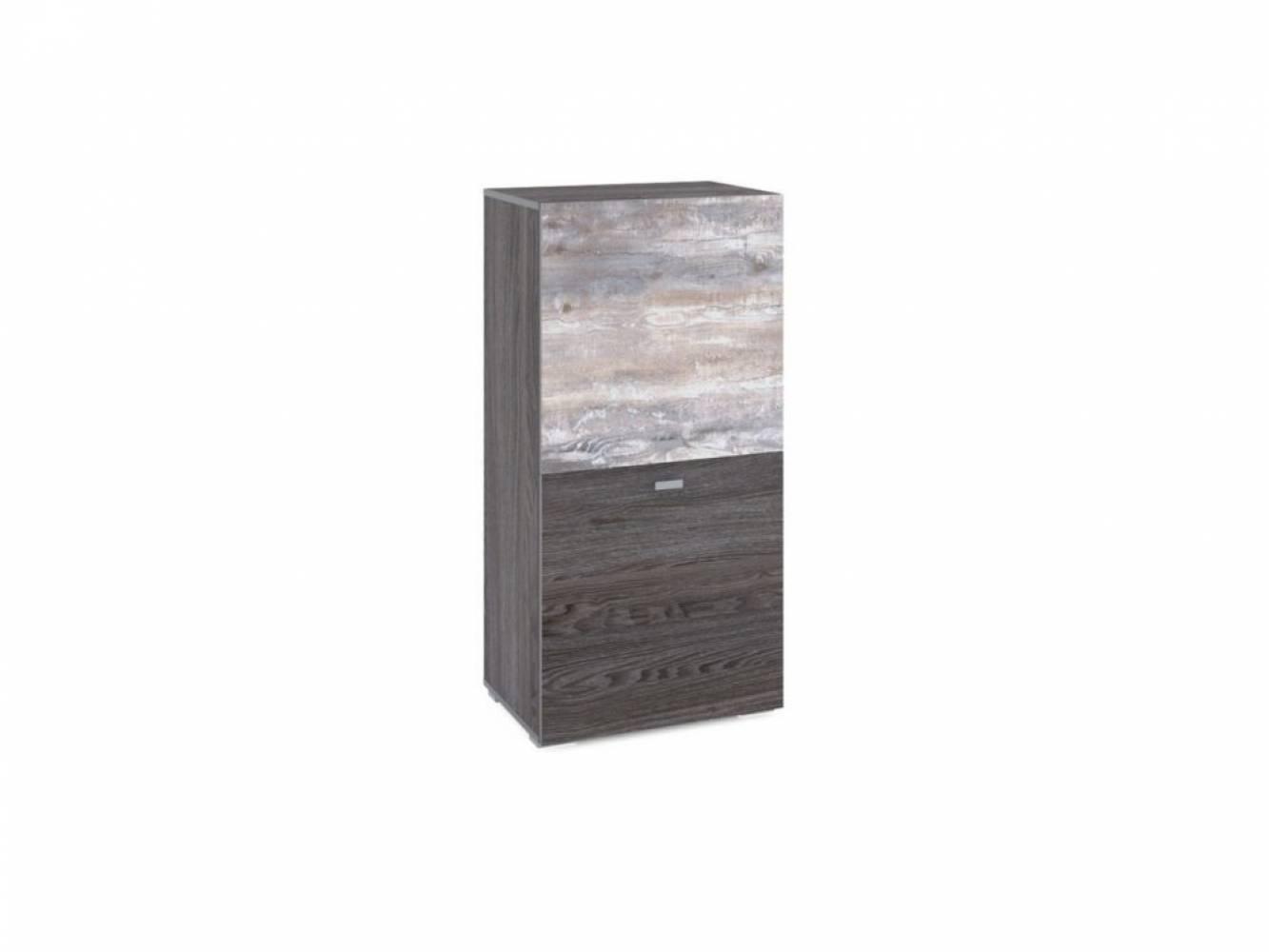 Шкаф комбинированный НМ 011.43 URBAN (Ясень Анкор темный/Бетон Пайн темный)