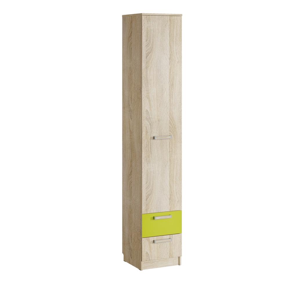 Шкаф для белья с ящиками НМ 013.01-02 М АКВАРЕЛЬ (Дуб Сонома/Лайм)