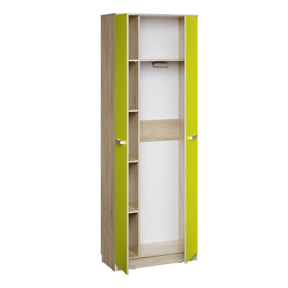 Шкаф для одежды НМ 013.02-02 АКВАРЕЛЬ (Дуб Сонома/Лайм)