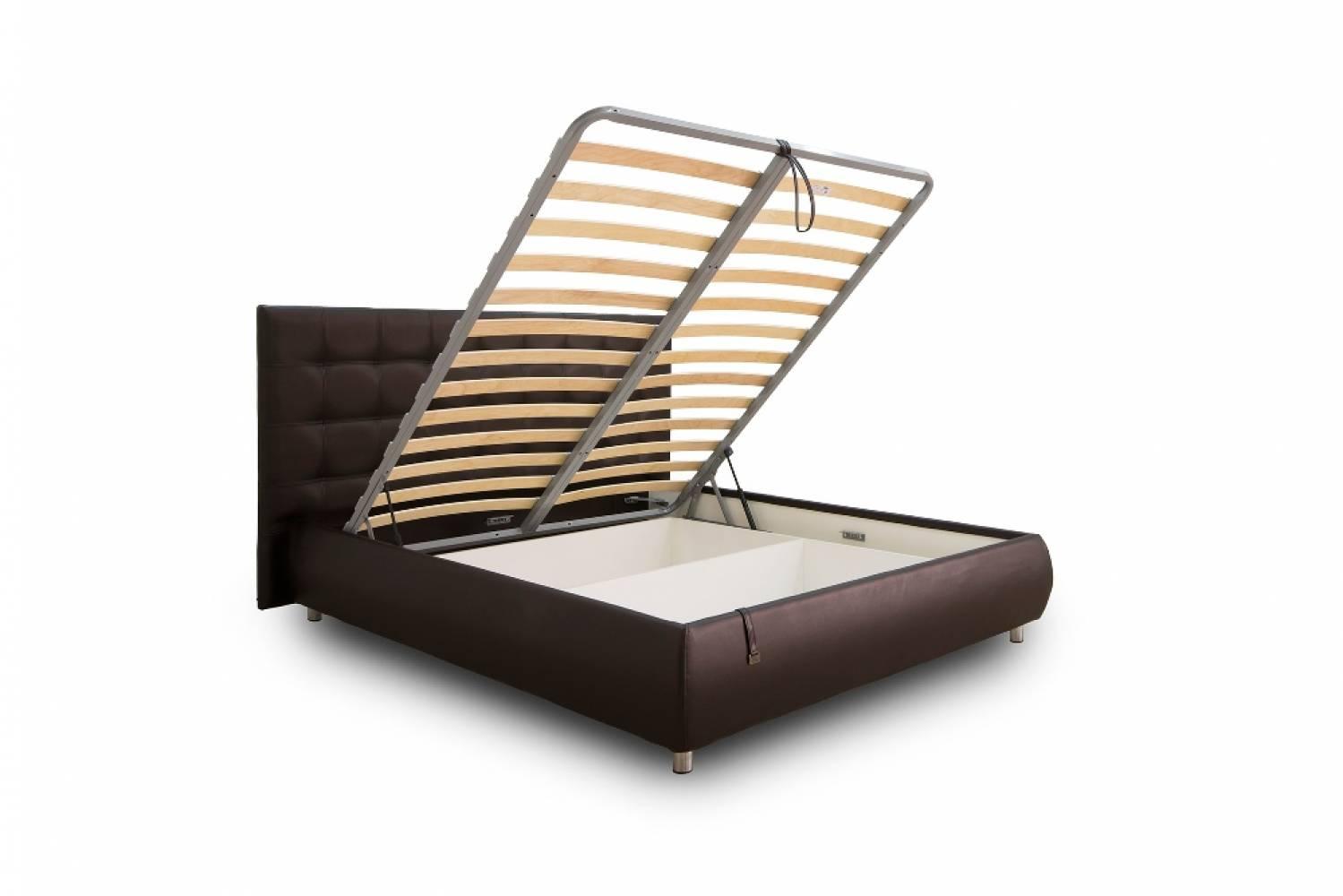 Кровать 1600 с подъемным механизмом ЖАКЛИН (Фиора шоколад)