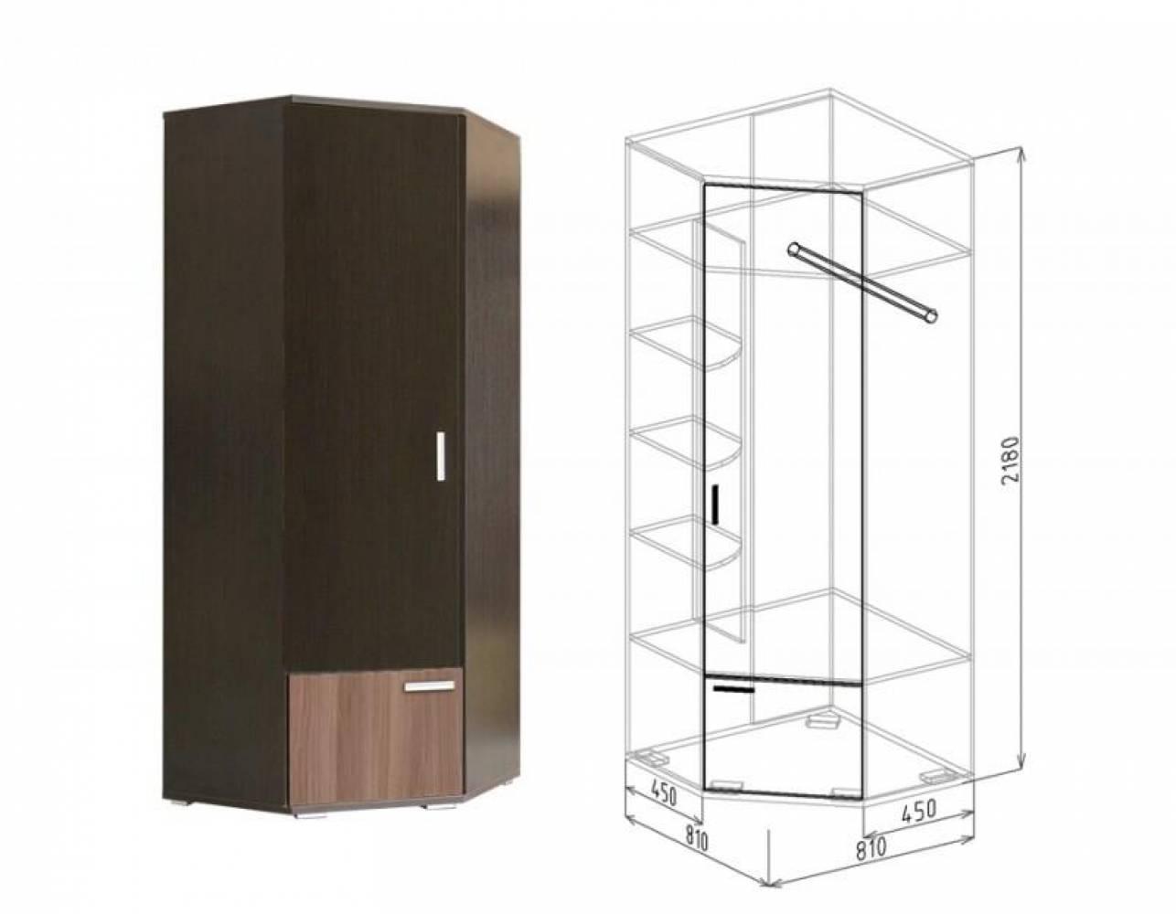 Шкаф угловой №10 СТАТУС (ясень шимо темный)