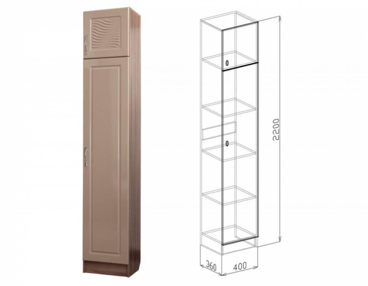 Пенал ВЕГА (мокко глянец) Союз-Мебель