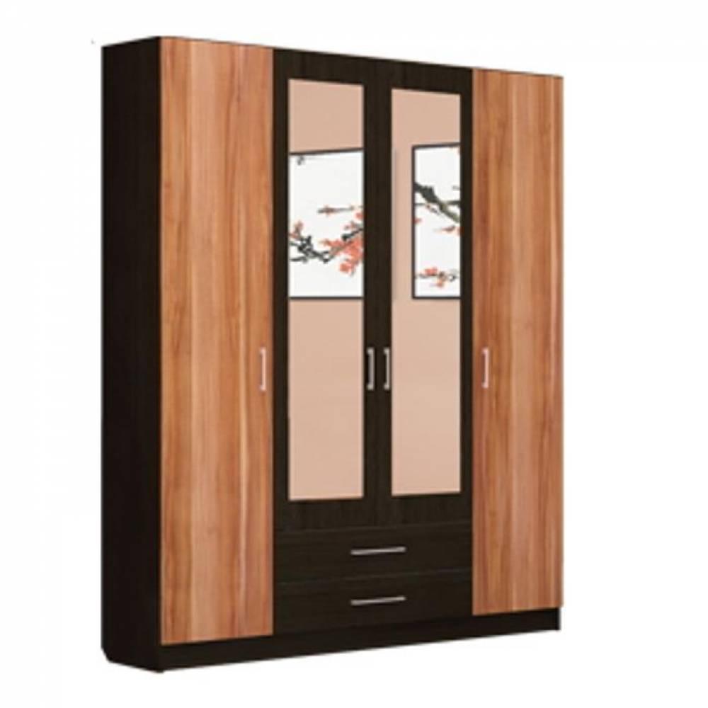 Шкаф 4-дверный ТОКИО (слива валлис)