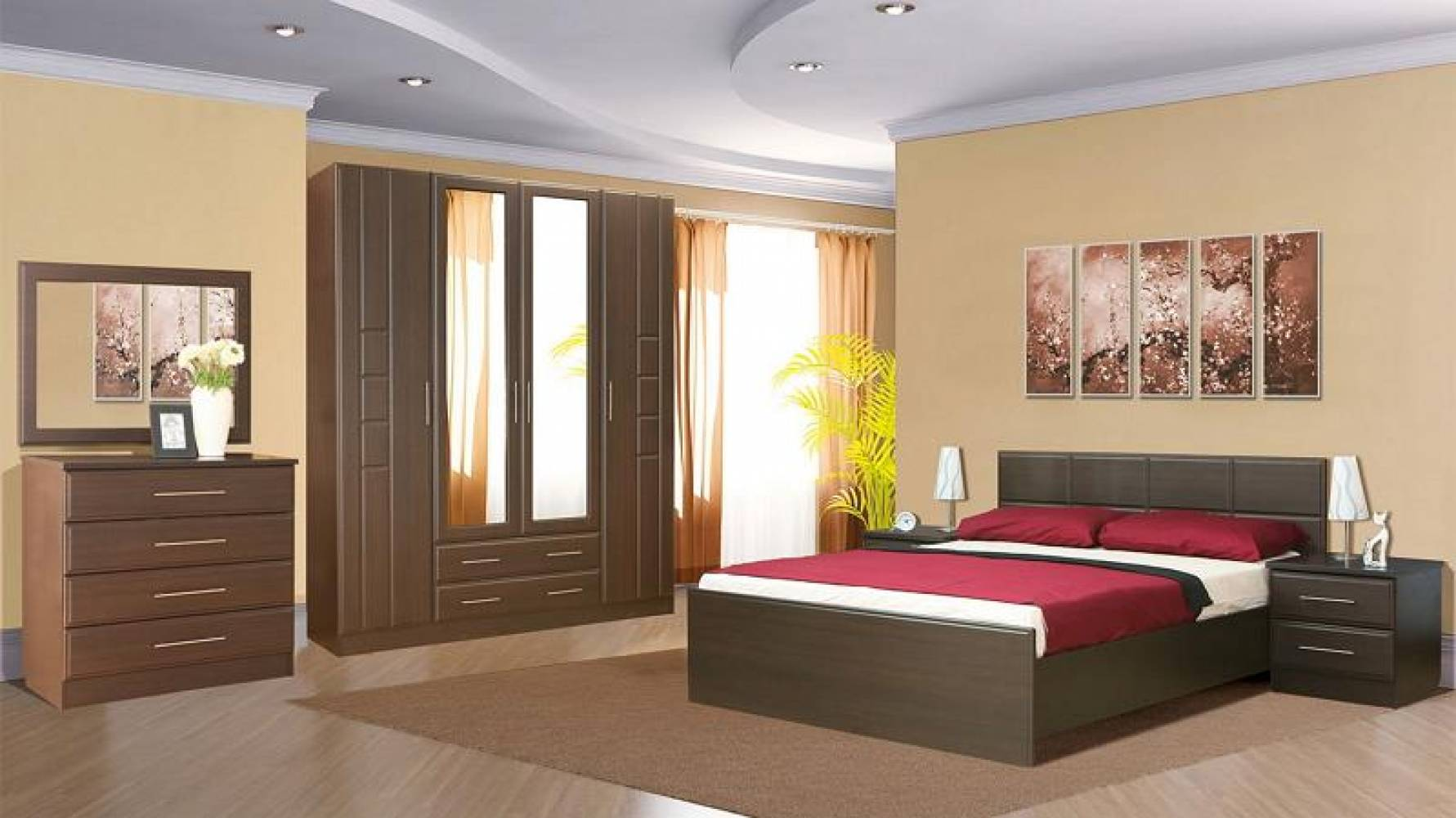 Спальня ПАЛЕРМО (венге дуглас) Союз-Мебель