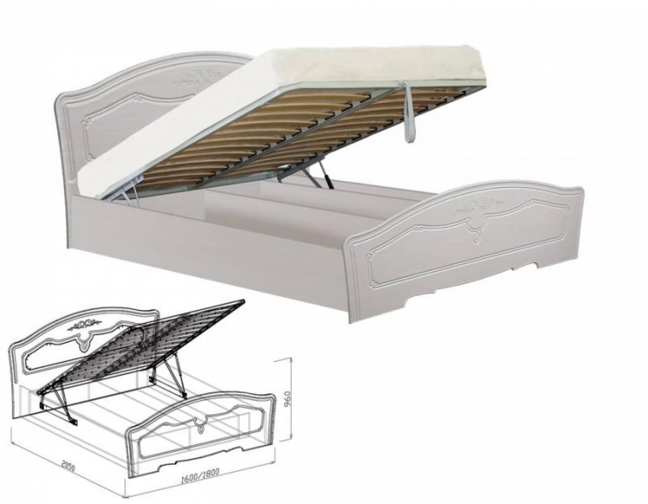 Кровать 1400 с подъемным механизмом ЕВА (рельеф пастель)
