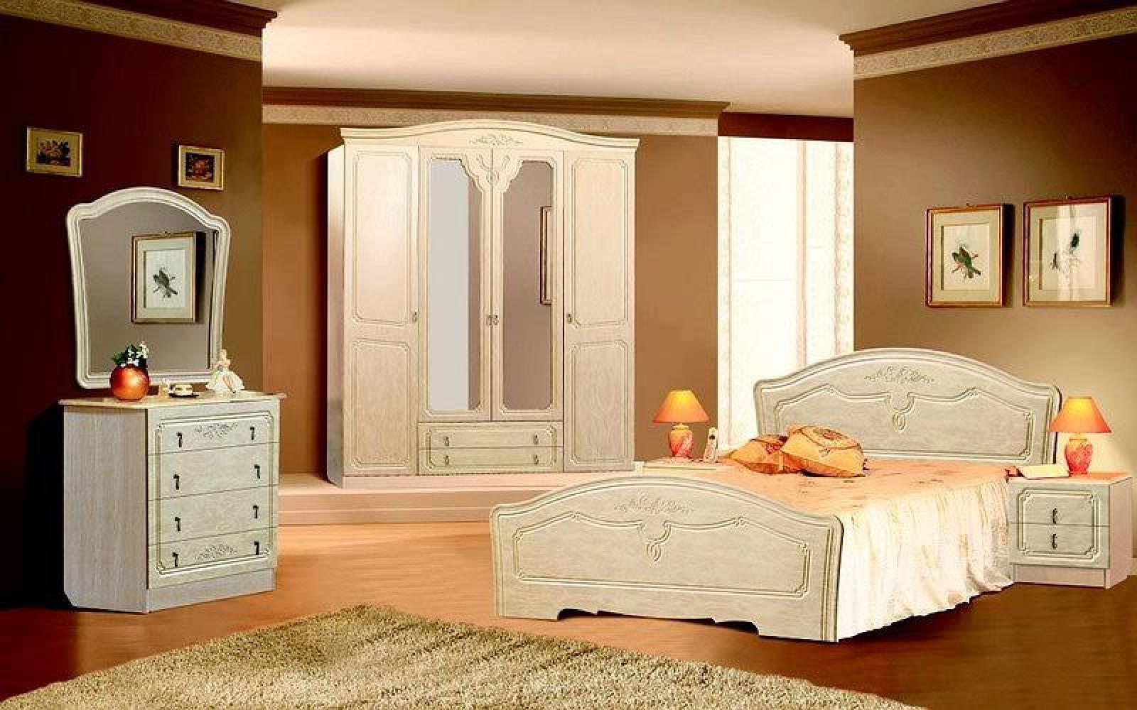 Спальня ЛИРА (жемчуг глянец) Союз-Мебель