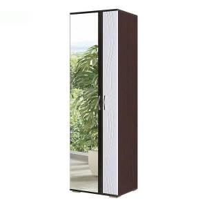 Шкаф с зеркалом №2 ЛИДЕР (рельеф пастель)