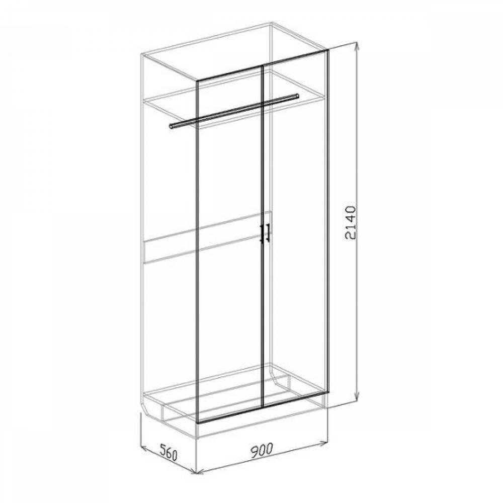 Шкаф 2-дверный ТОКИО (слива валлис)