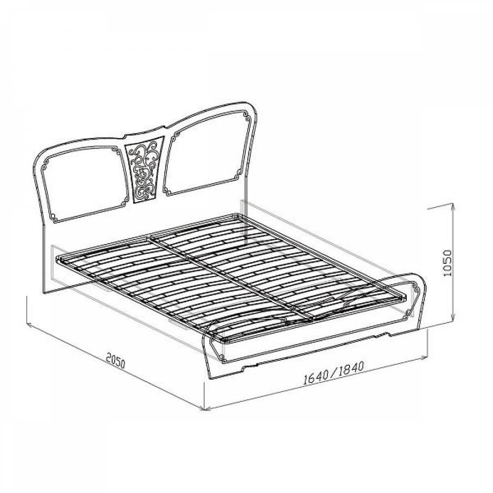 Кровать №1 1600 ВЕРОНА (жемчуг глянец)
