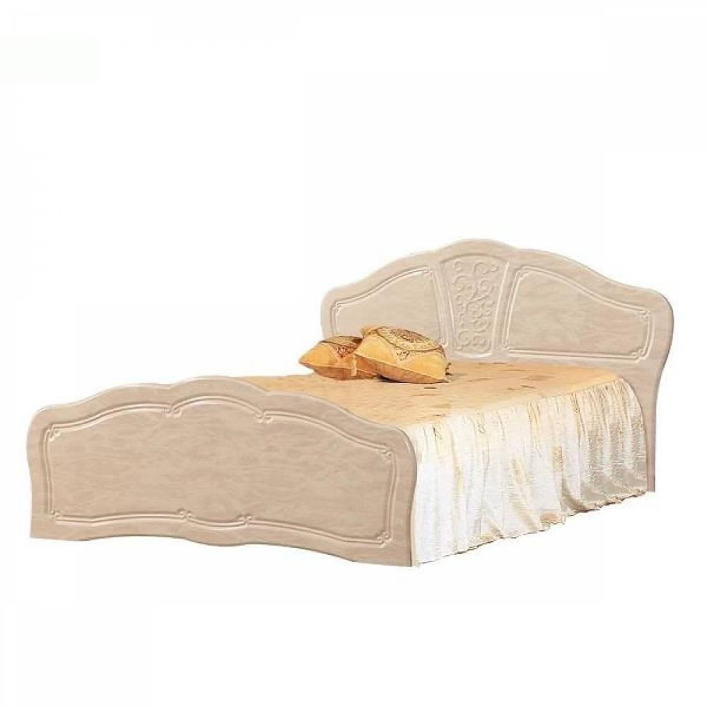 Кровать №2 1400 ВЕРОНА (жемчуг глянец)
