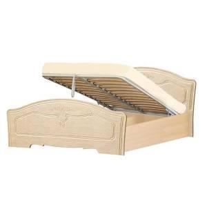 Кровать №1 1600 с подъемным механизмом ЛИРА (жемчуг глянец)