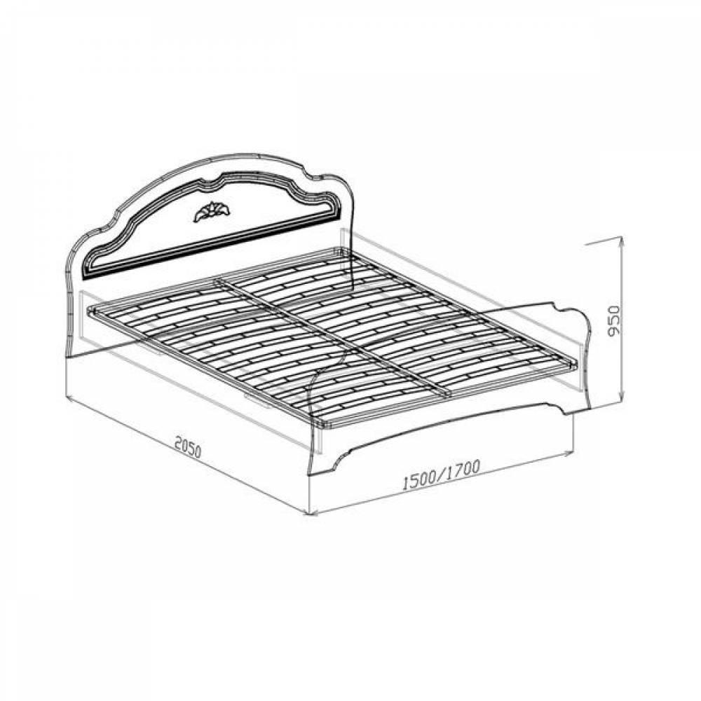 Кровать №1 1400 ВАЛЕНСИЯ (жемчуг глянец)
