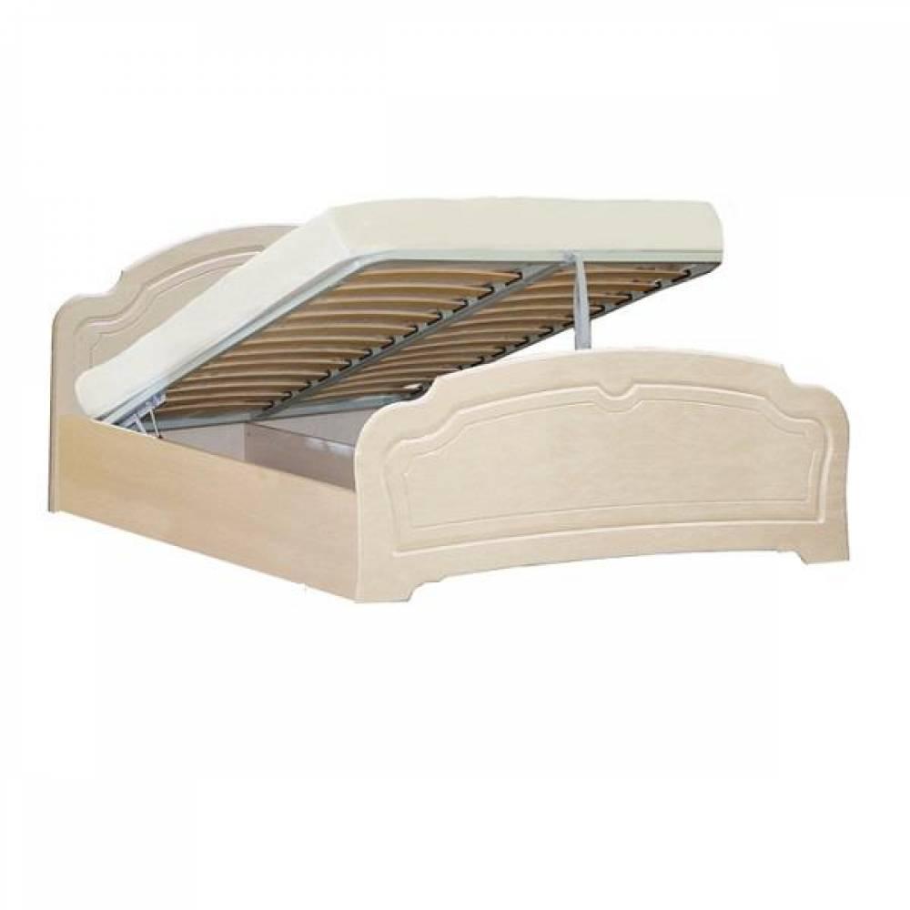 Кровать №1 1600 с подъемным механизмом ВАЛЕНСИЯ (жемчуг глянец)