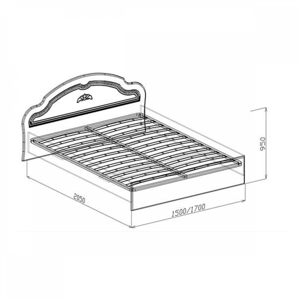 Кровать №2 1400 ВАЛЕНСИЯ (жемчуг глянец)