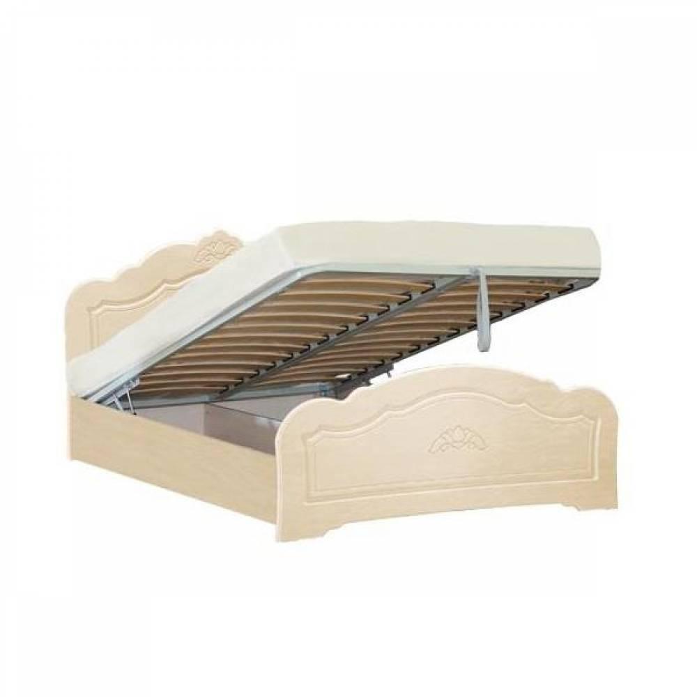 Кровать №1 1600 с подъемным механизмом КОРОНА (жемчуг глянец)