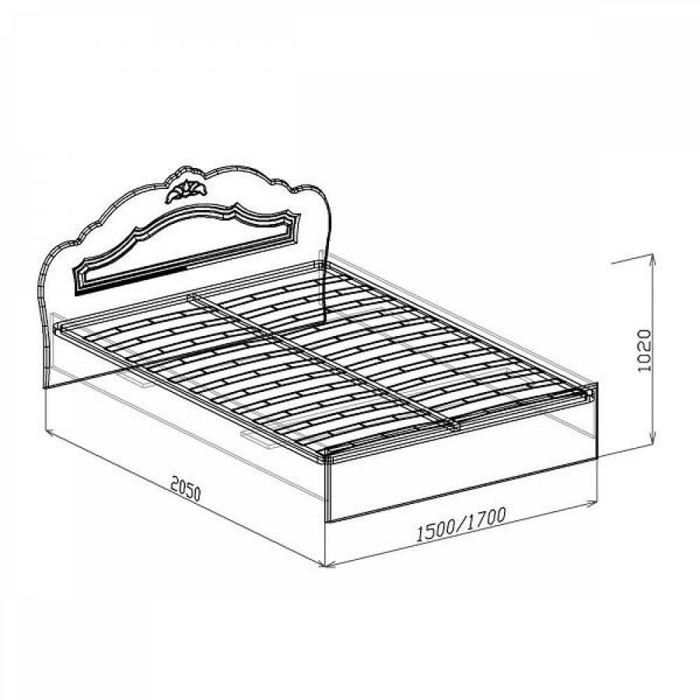 Кровать №2 1600 КОРОНА (жемчуг глянец)