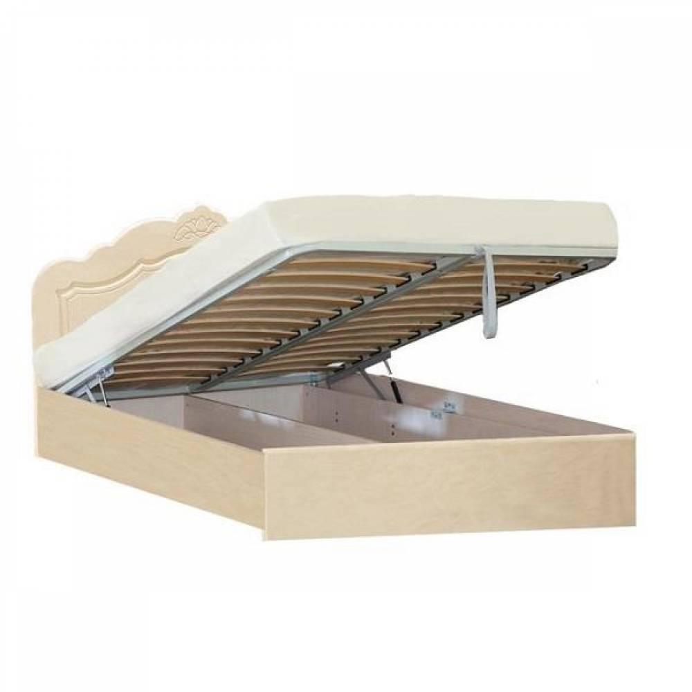 Кровать №2 1600 с подъемным механизмом КОРОНА (жемчуг глянец)