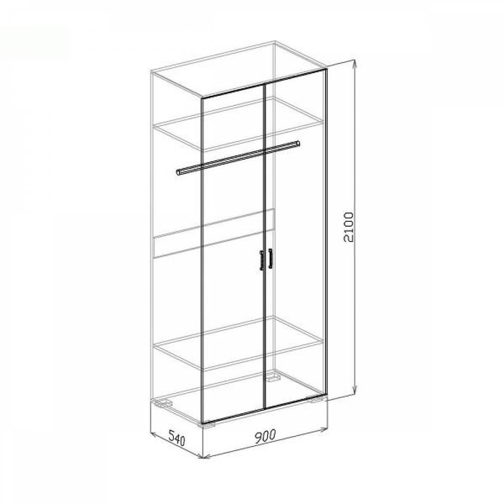 Шкаф № 2 ОСКАР (пастель мокко)