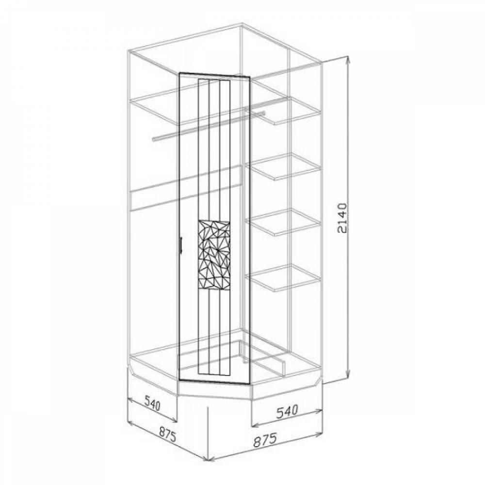 Шкаф угловой АТЛАНТИДА (белый глянец)