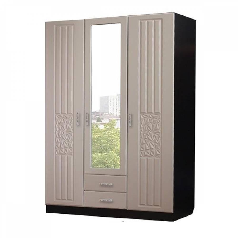 Шкаф 3-дверный РОБЕРТА (пастель мокко)