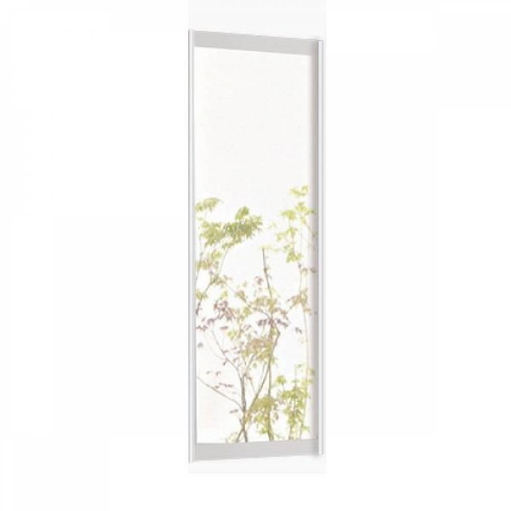 Дверь зеркало шкафа купе ПАЛЕРМО (белый дым)