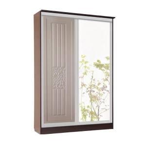 Корпус шкафа купе 2-дверного РОБЕРТА (пастель мокко)