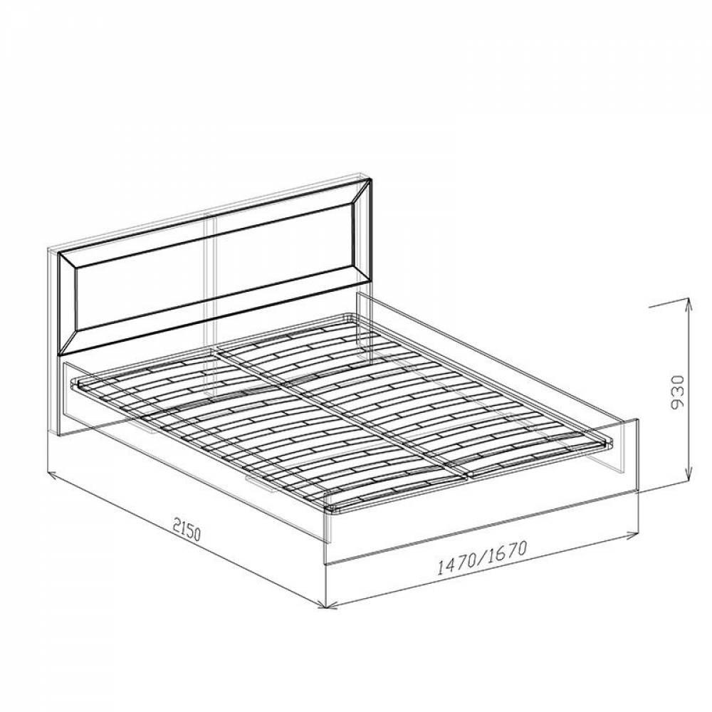 Кровать 1400 № 1 с основанием КОРВЕТ ЛЮКС (Бодега)
