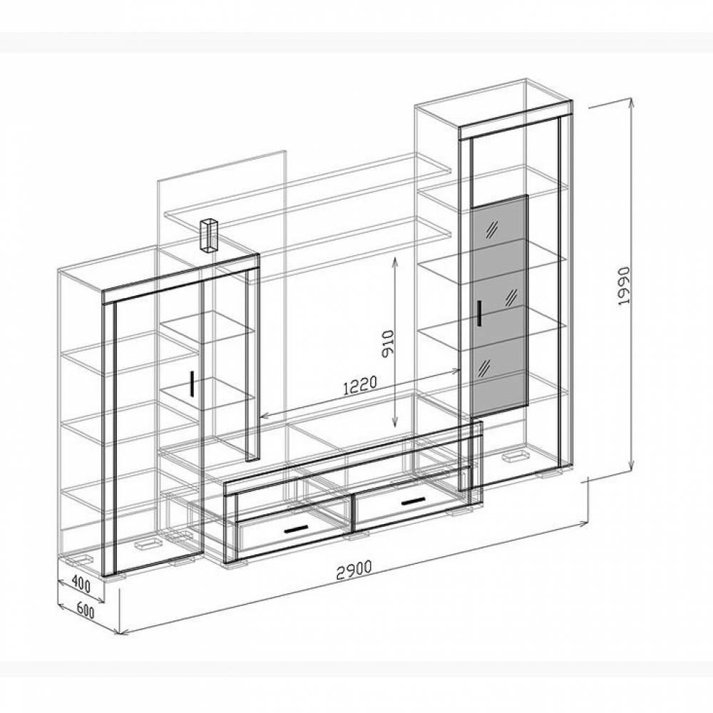Гостиная КОРСИКА (Белый глянец) Союз-Мебель
