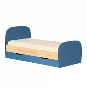Кровать 800 № 12 с основанием КОСМОС (альпийское  озеро)