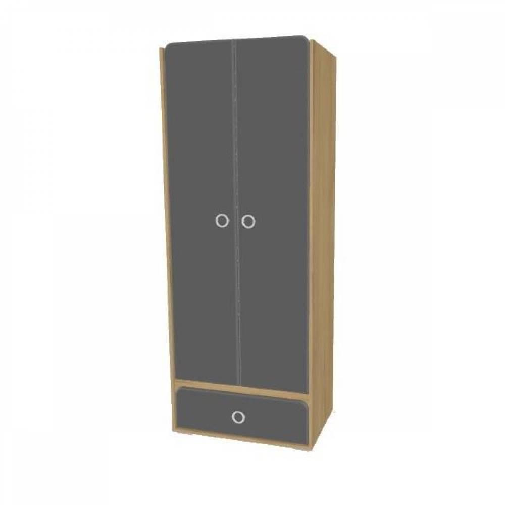 Шкаф 2-дверный № 4 СКАЙ (графит)