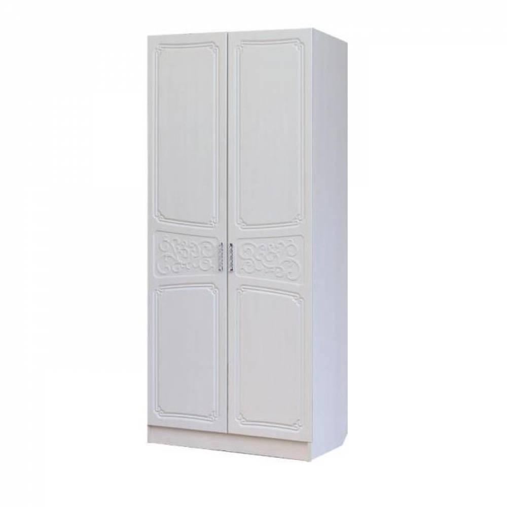 Шкаф 2-дверный 0,9 ТИФФАНИ (рельеф пастель)