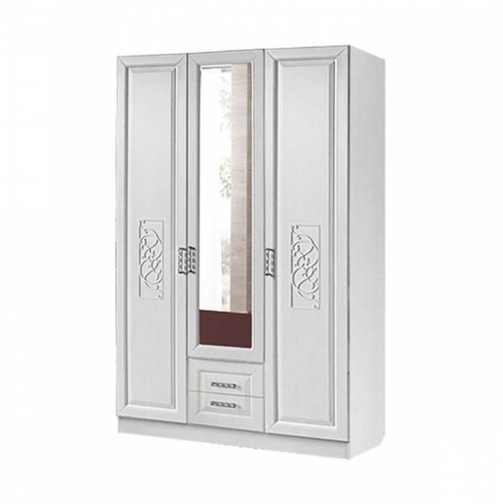 Шкаф 3-дверный АЭЛИТА (рельеф пастель)