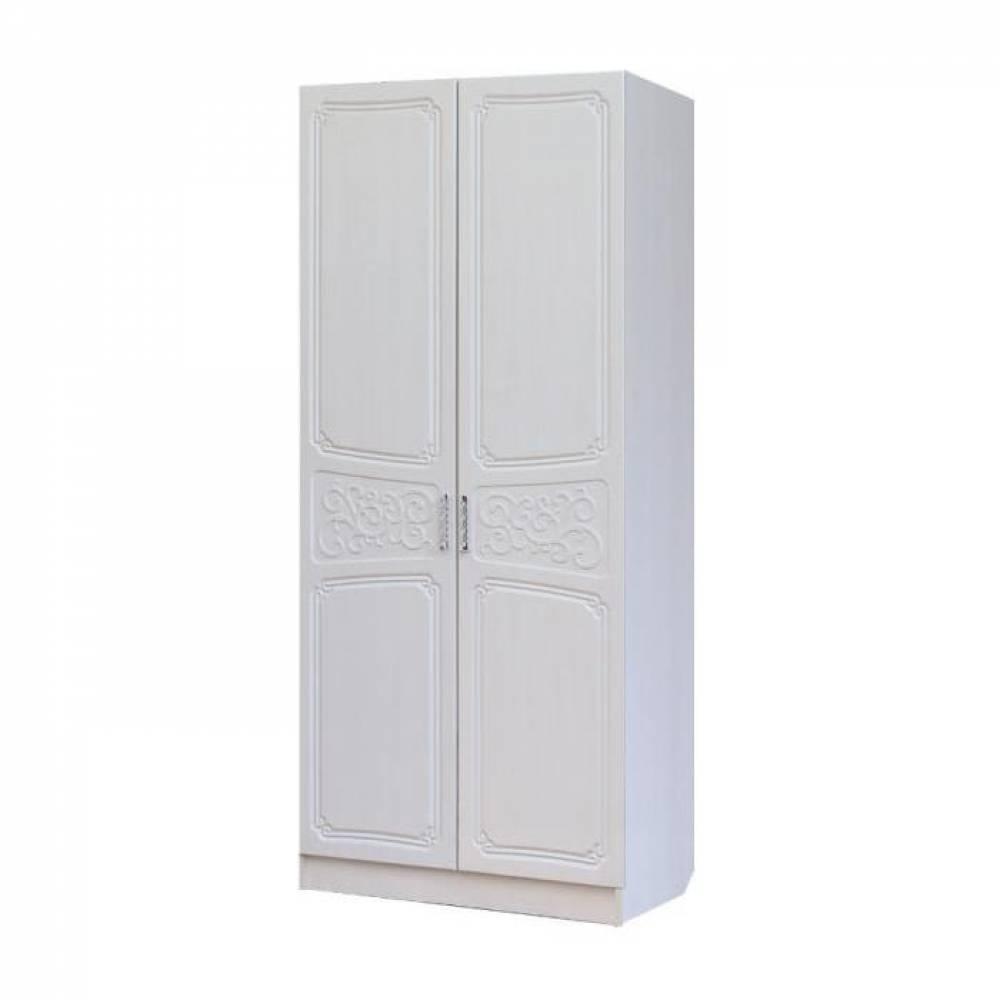 Шкаф 2-дверный 0,8 ТИФФАНИ (рельеф пастель)