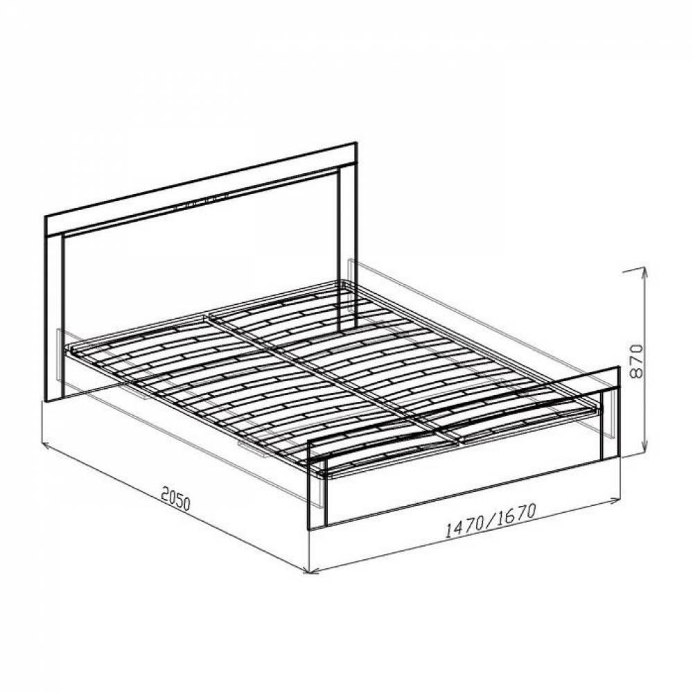 Кровать 1600 №2 с основанием ТОКИО (бодега)